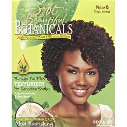 Soft and Beautiful Botanicals Texturizer for Sensitive Scalp (Regular) ***NEW LOOK*** beautiful darkness