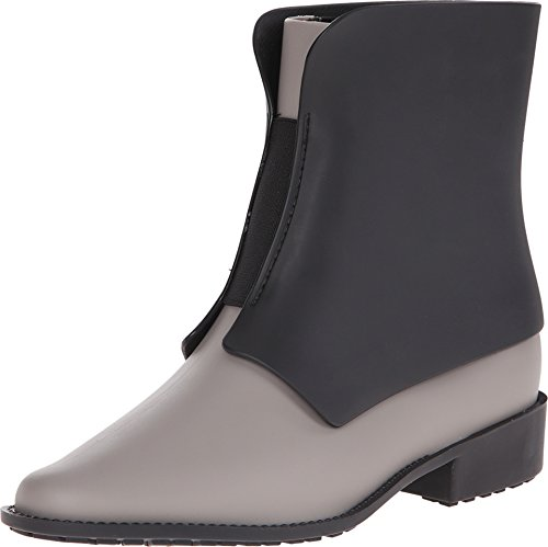 Melissa Women's Necklace Rain Boots, Grey/Black, 8 B(M) US (Rain Boots Melissa compare prices)
