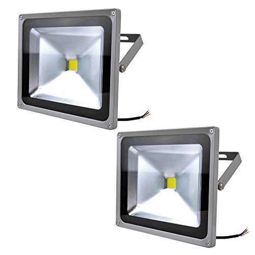 10W 20W 30W 50W 100W Warm White Cool White Outdoor Waterproof Led Floodlight 85-265V And 12V(1 2 3 4 5 8 10Pcs) (2, 50W Cool White)