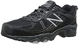 New Balance Men\'s MT410V4 Trail Shoe, Black/Silver, 11 D US