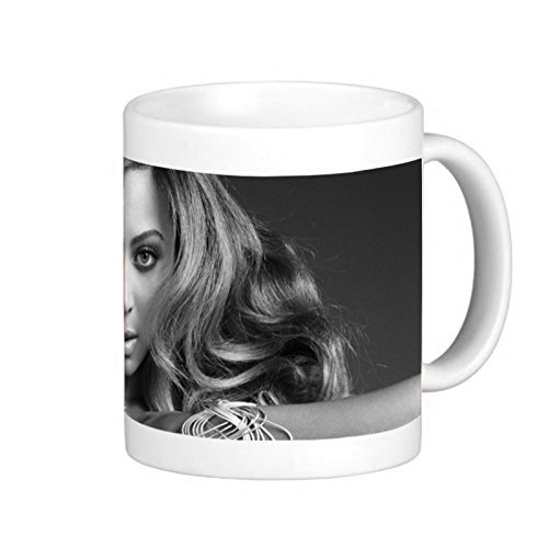 Best Gift Choice - White 11 oz Classic White Ceramic Mugs Cutom Design with Beyonce Singer Celebrity Coffee Mugs/Tea Mugs/Drink Cups - Dishwasher and Microwave Safe (Beyonce Coffee Cup compare prices)