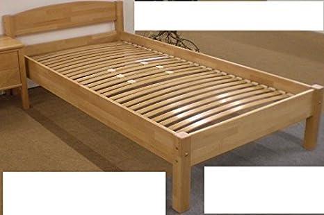 4-4-3-2432: schönes Einzelbett - Holzbett - Kinderbett - Buche massiv - Liegefläche 100x200cm