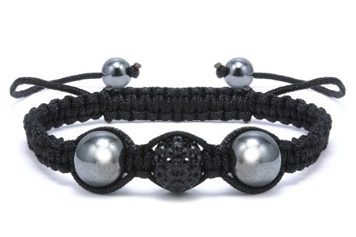 Authentic Black Diamond Color Crystals Shamballa