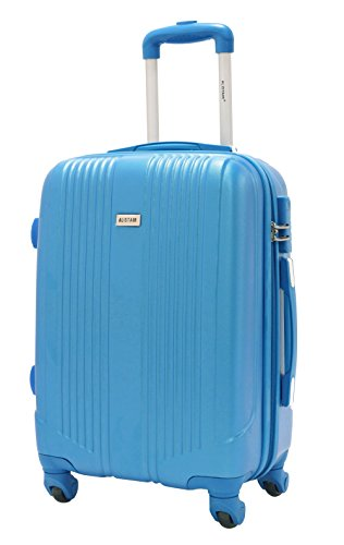 Valise cabine 55cm - Trolley ALISTAIR Airo - ABS ultra Léger - 4 roues - Bleu Ciel