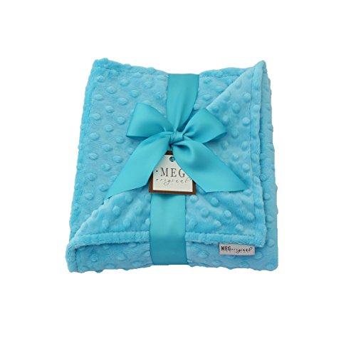 MEG Original Turquoise Minky Dot Baby Blanket