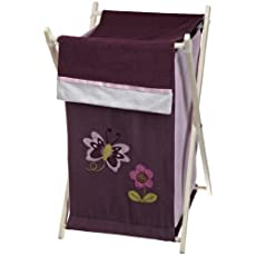 Lambs and Ivy Luv Bugs Hamper, Plum