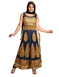 Ritu Creation Women's New Party Wear Stitched Straight Long Chudidar Suit With Side Cut&Dori Pattern
