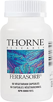 Thorne Research - Ferrasorb - Complete Blood Building Formula with Iron, Folate, and B Vitamins - 60 Capsules