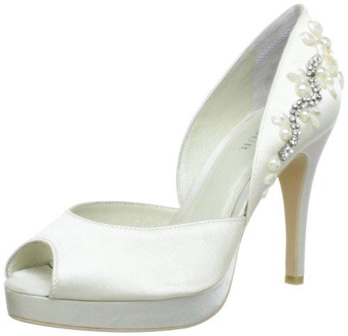 Menbur Wedding Vara Peep-Toe Women Ivory Elfenbein (Ivory 04) Size: 7 (41 EU)