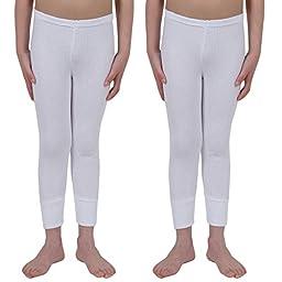 ETHO 2 Childrens/Boys Thermal Underwear Long Pants, White 3/5 Yrs