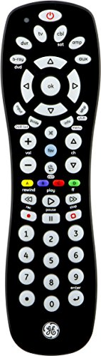 GE 6-Device Universal Remote, Black, 24922 (Ge Universal Remote Control compare prices)