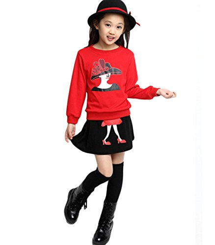 Wallcart Baby Girl Kids Children'S Wear Long Sleeve Warm Top Blouse Sweater+Skirt