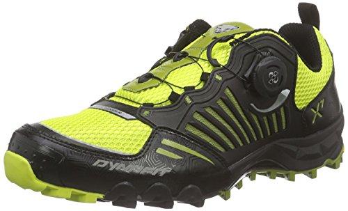 DynafitMS FELINE X7 - Scarpe da Trail Running Uomo , Nero (Schwarz (Black/Citro 0924)), 45