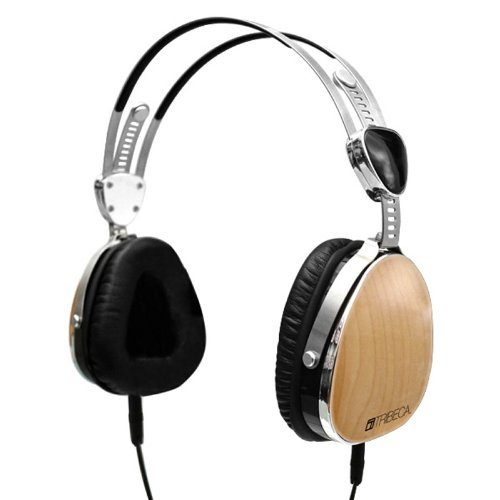 Tribeca Aviator-Style Natural Sound Headphones With In-Line Microphone - Genuine Maple Wood - For Iphone, Ipod Touch, Ipad, Samsung Galaxy, All Smartphones And Tablets