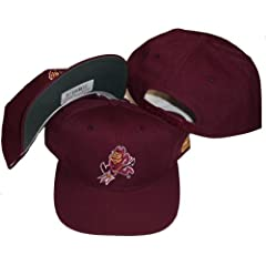 Buy Arizona State Sun Devils Vintage Maroon Deadstock Snapback Hat Cap by Sports Specialties by Sports Specialties