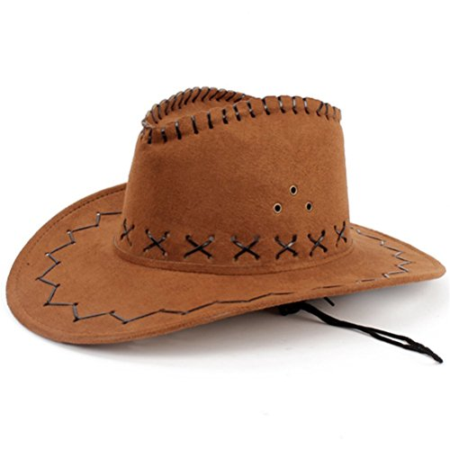 HMILYDYK-cappello da Cowboy Fancy Dress-Cappello a tesa larga Stetson Cowgirl Wild West