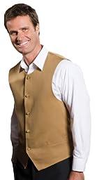 Ed Garments Men\'s Matching Buttons Bistro Vest, GOLD, XX-Large R