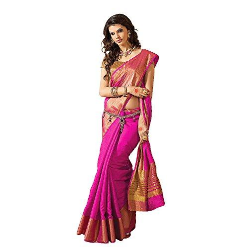 Shree Designer Sarees Women's Kanchipuram Silk Saree
