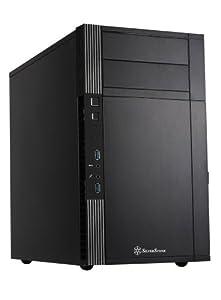 SILVERSTONE Precision Tower Micro ATX  USB 3.0 schwarz