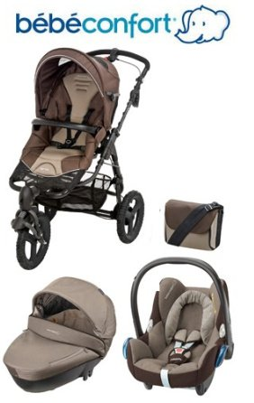 Bebe-Confort-Trio-Travel-System-High-Trek-Windoo-CabrioFix-with-FamilyFix-Base-Earth-Brown