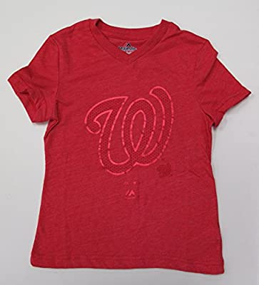 MLB Washington Nationals Fan Fashion Girls Youth Tri-Blend T-Shirt