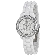 buy Christian Dior Viii Mother Of Pearl White Hi Tech Ceramic Diamond Ladies Watch Cd1221E4C001
