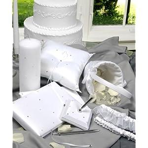 Wedding Guestbook, Ring Pillow, Garter & More: Starlight Wedding Collection