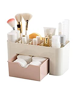 Shreeji Ethnic Plastic Multi Functional Desktop Cosmetic Storage Box for women