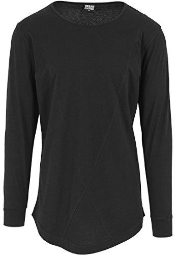 Urban Classics - Shaped Fashion Long Sleeve Tee, Maglia a maniche lunghe Uomo, Nero (Schwarz), XX-Large (Taglia Produttore: XX-Large)