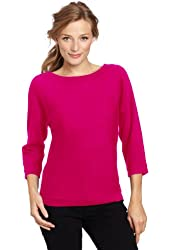 Magaschoni Women's 100% Cashmere Dolman Sleeve Sweater