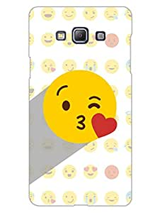 Whatsapp Emoji - Flying Kiss - I Spread Love - Designer Printed Hard Back Shell Case Cover for Samsung A5 Superior Matte Finish Samsung A5 Cover Case