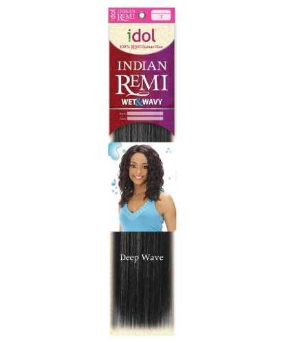 100% HUMAN IDOL REMI INDIAN HAIR WET&WAVY 16S
