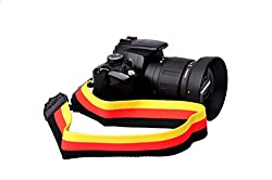 Universal Color Stripes Soft Yellow Black Red Camera Neck Straps Shoulder Strap Belt Grip for Dslr Nikon Canon Panasonic Sony Pentax