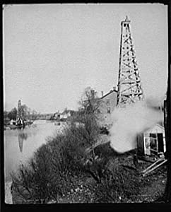 Photo: Sandusky,oil wells,rivers,industrial facilities,structures,Tiffin,Ohio,OH,c1892