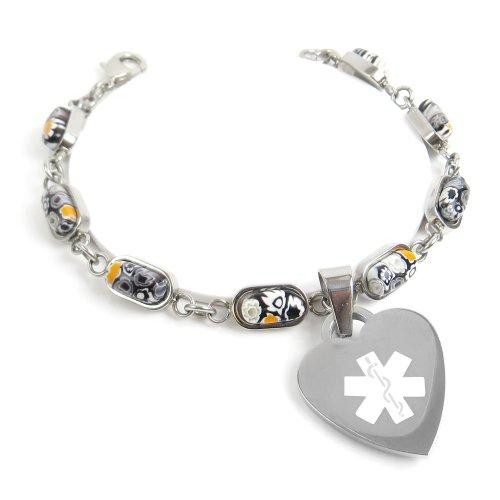myiddr-engraved-multiple-sclerosis-ms-bracelet-black-white-flowers-19cm