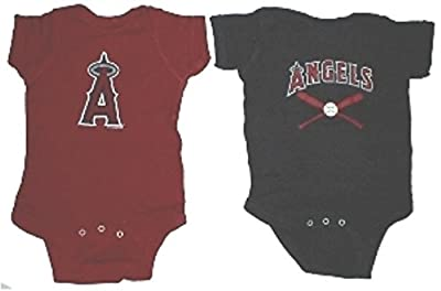 Los Angeles Angels MLB Newborn Infant Baby Creeper Home and Away Set USA Printed