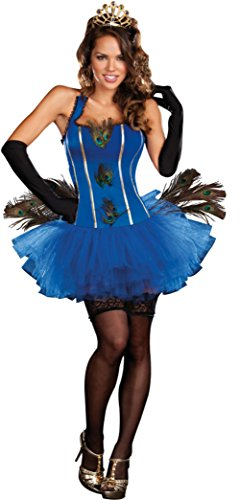 Dreamgirl Womens Royal Peacock Queen Princess Outfit Fancy Dress Sexy Costume