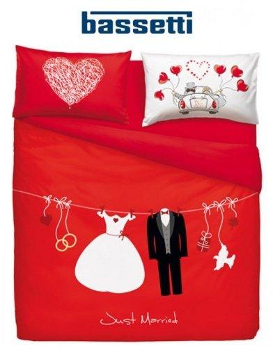 Bassetti Completo Copripiumino Love is a Couple matrimoniale M652