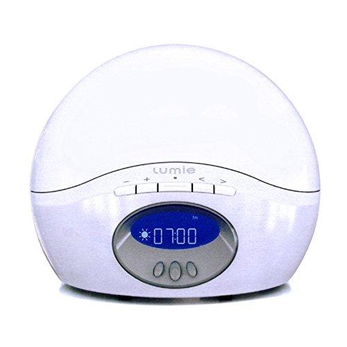Lumie Body Clock Active 250, Dawn Simulator Alarm Clock with FM Radio, White