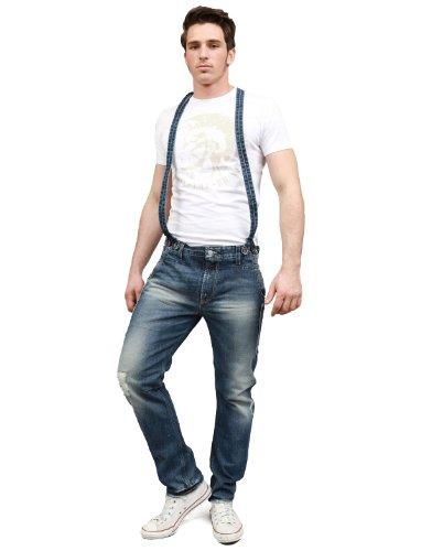 Japan Rags Work Straight Black Man Jeans Men - W29