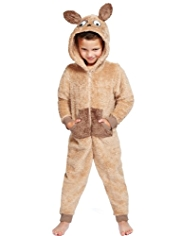 Hooded Dog Fleece Onesie