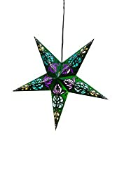 Om Gallery Paper Star Lantern Green Goodness