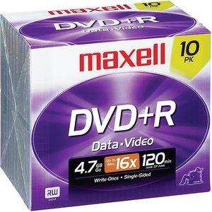 Maxell 4.7 Gb 16x Dvd+r 10 Pack