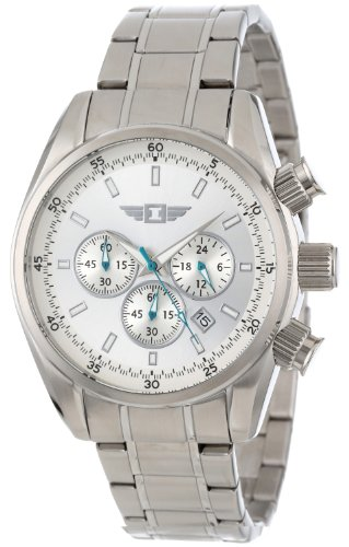 I By Invicta Men's 89083-001 Chronograph Silver Dial Stainless Steel Watch