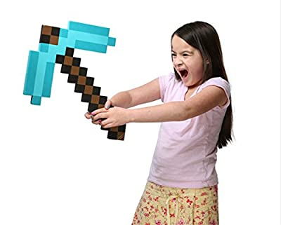 Think Geek Minecraft Pick Axe Foam Weapon Action Figure Accessory (one size, Blue Gao)