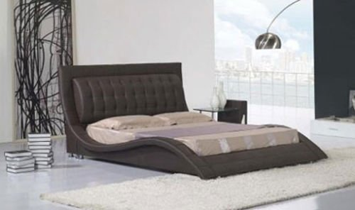 Exclusive Naples Faux Leather Bed Double and King Size Memory Foam Mattress (Black, 4ft6 Double)