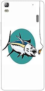 Snoogg Albacore Tuna Fish Retro Designer Protective Back Case Cover For Lenov...