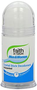 Faith in Nature 100g Unscented Crystal Stick Body Deodorant