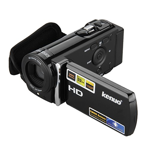 KENUO HD 1080P 16MP Camcorder Digital Video Kamera 3,0 Zoll 16:9 LCD Screen 16x Zoom DV Schwarz
