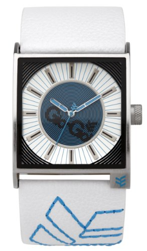 Gio-Goi Men's 'Disco Biscuit' Analogue Watch GG1010W With White Leather Strap